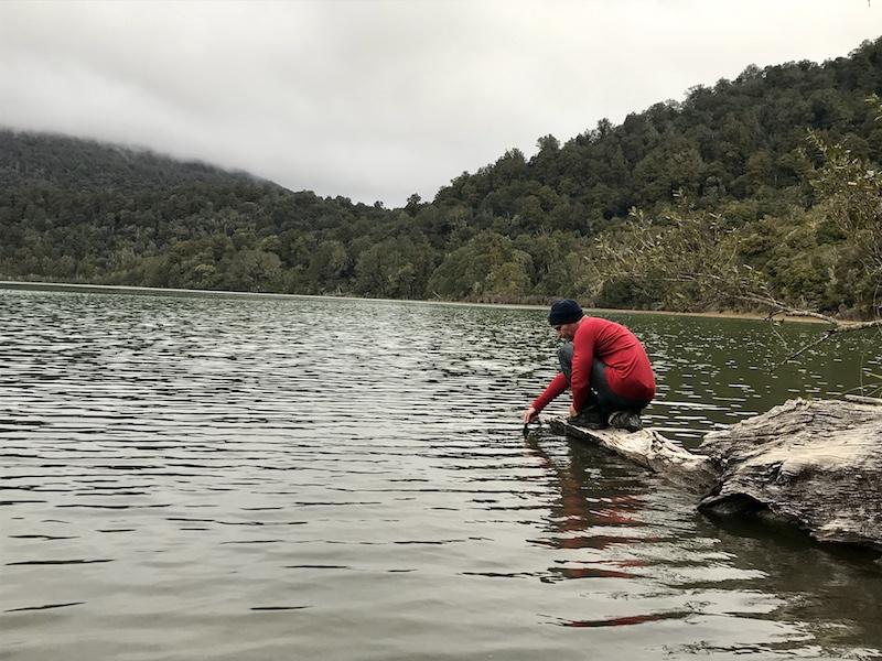 Pounamu blessing Lake Rotopounamu
