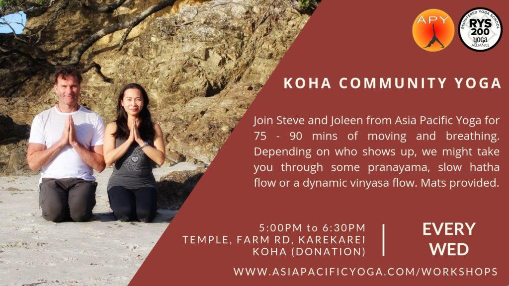 Asia Pacific Yoga Karekare Community Yoga Class