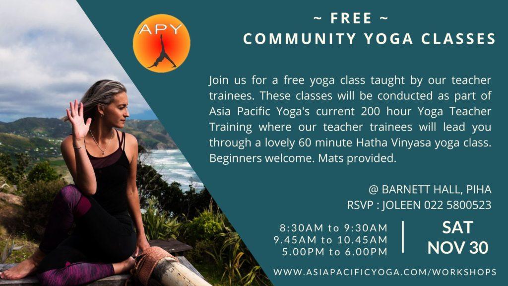 Free Yoga Class Piha