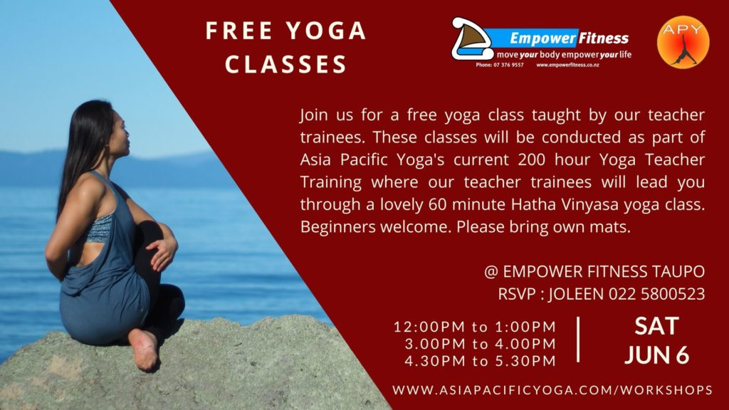Free Yoga Class Empower Fitness Taupo Jun 2020