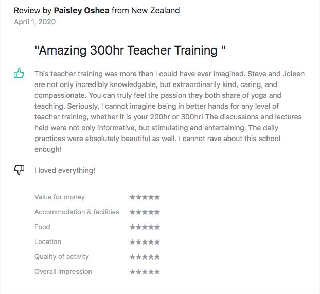 Testimonials Asia Pacific Yoga Paisley